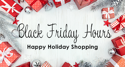 Red packages Black Friday Hours