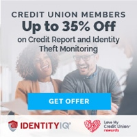Credit union members up to 35 off on credit report and identity theft monitoring