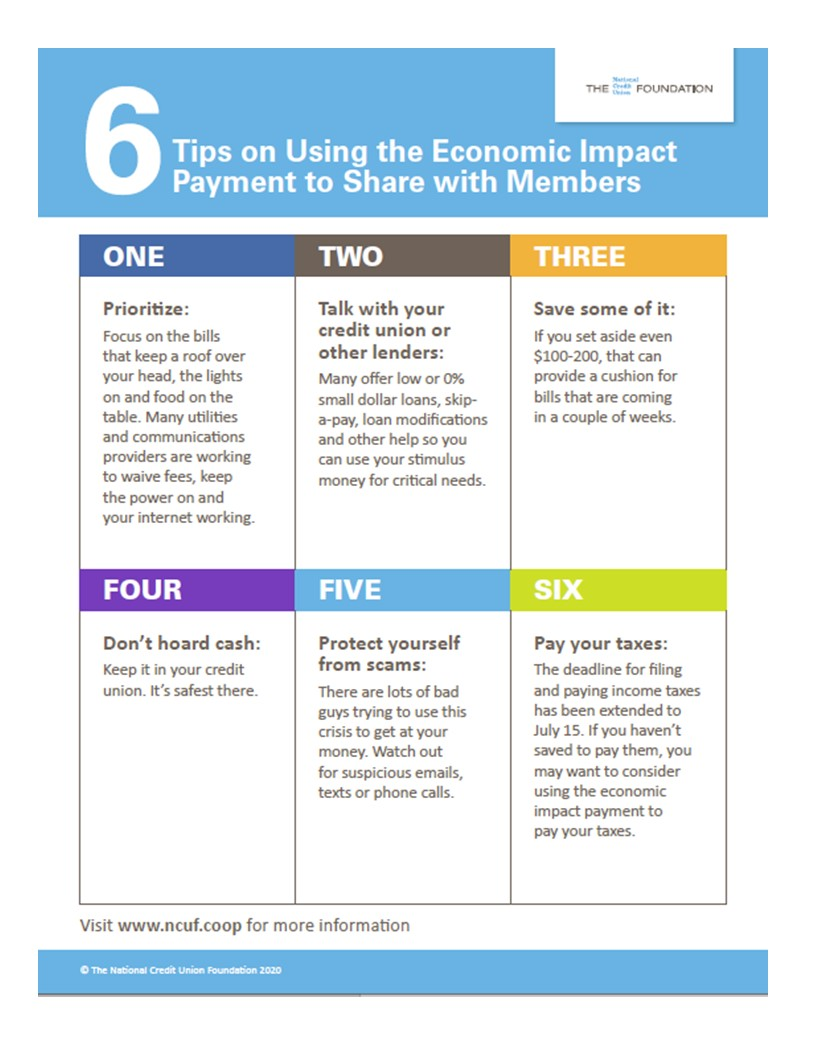 6 tips on using the economic impact payments infographic content included in pdf