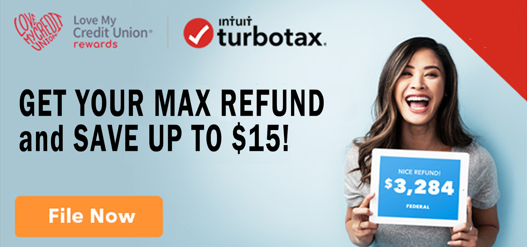 Get your max refund and save up to $15 TurboTax